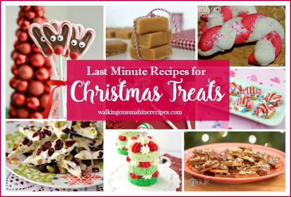 Last Minute Christmas Treats - Delicious Dishes Recipe Party 49 from Walking on Sunshine