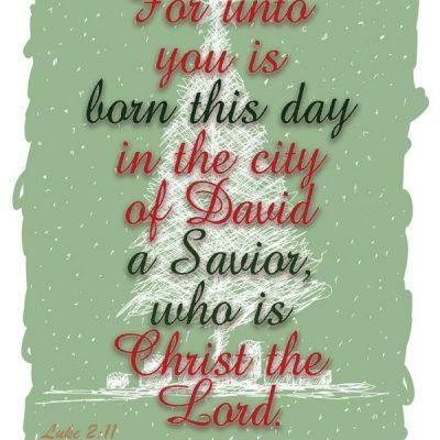 Luke 2:11 – Free Printable for Christmas from Walking on Sunshine