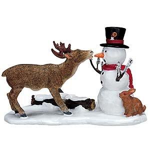 Mini animals and snowman for terrariums.