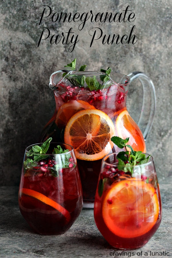 Pomegranate Party Punch from Cravings of a Lunatic
