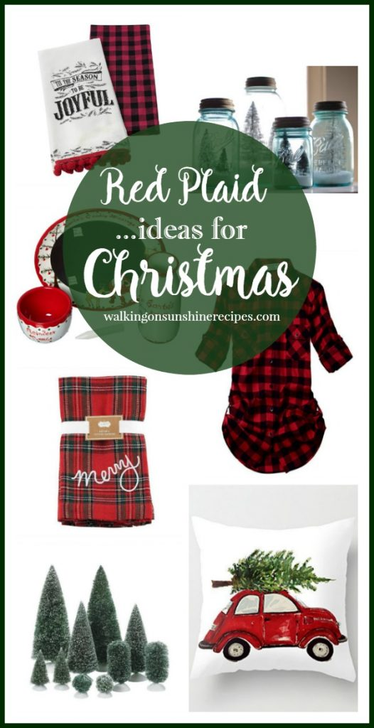 Red Plaid Ideas for Christmas from Walking on Sunshine