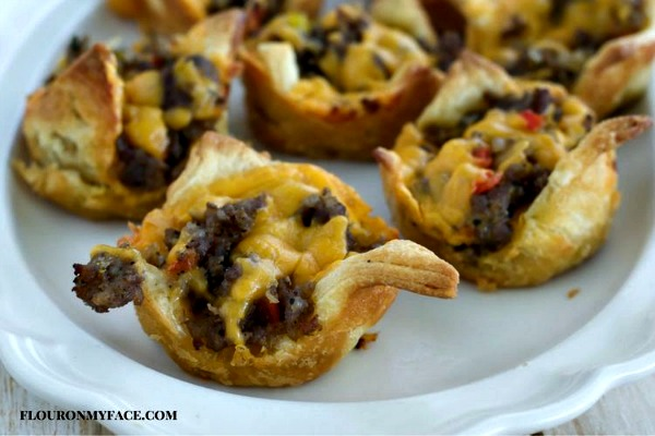 Sausage Cups Appetizer Recipe from Flour on My Face