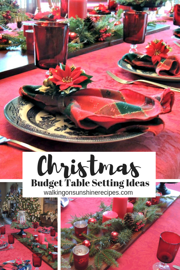 Budget Christmas Table Decorations to help you celebrate the holiday season without spending a ton of money...it can be done!
