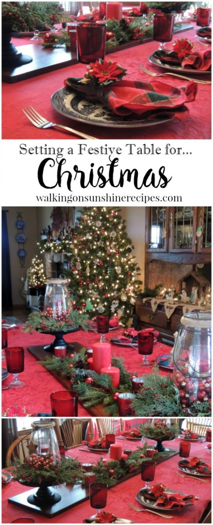 How to Set the Table on a Budget for Christmas from Walking on Sunshine.