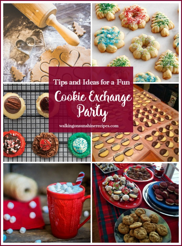 Tips and Ideas for a Fun Cookie Exchange Party from Walking on Sunshine Recipes