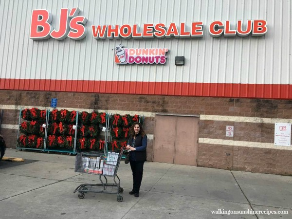Visit to BJ's Wholesale Club featured on Walking on Sunshine Recipes