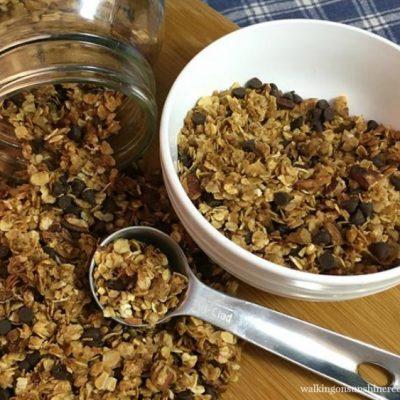 Chocolate Chip Coconut Pecan Homemade Granola