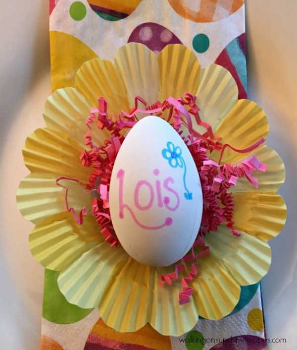 Easter Egg Place Cards from Walking on Sunshine.