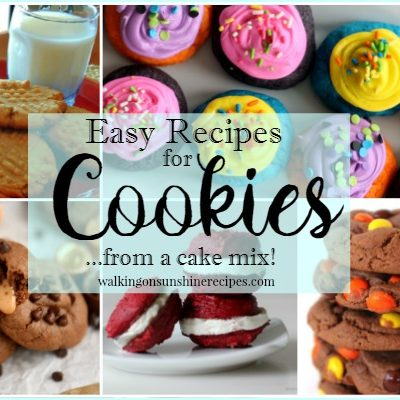 How to Make Cookies with a Boxed Cake Mix