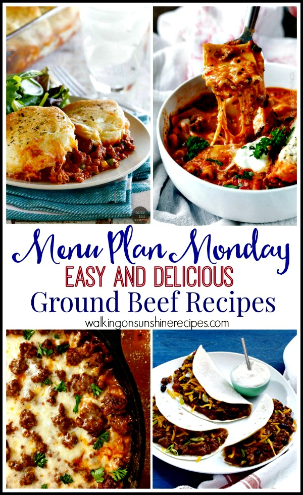 Easy and Delicious Ground Beef Recipes from Walking on Sunshine
