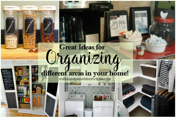 Great Ideas for Organizing your Home from Walking on Sunshine