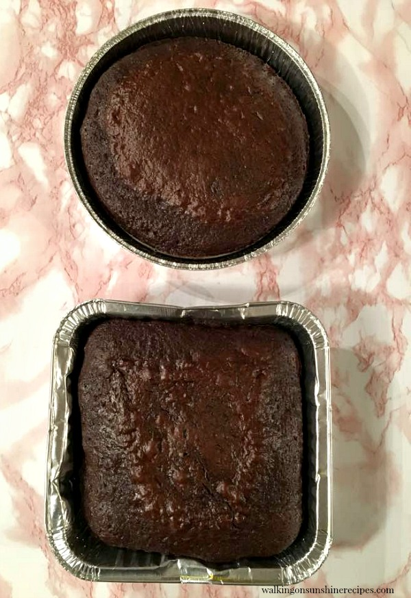 Heart Shaped Cake in two different Baking Pans from Walking on Sunshine