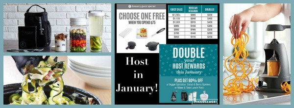 January Pampered Chef specials for hosts featured on Walking on Sunshine