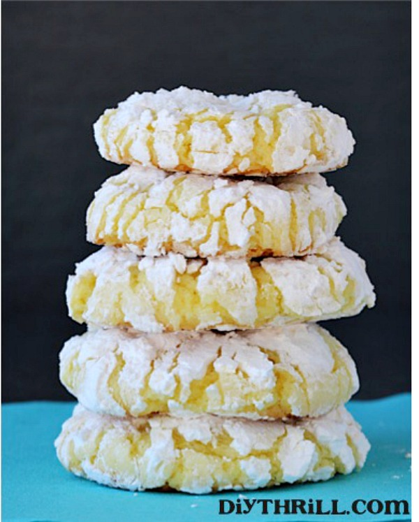 Lemon Cake Mix Cookies From Diy Thrill