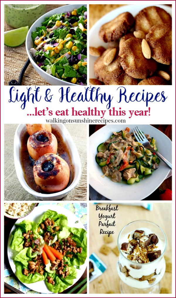 Party: Light Healthy Recipes Foodie Friends Friday from Walking on Sunshine.