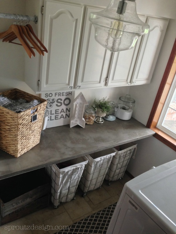 One Room Challenge Laundry Room from Sproutz Design