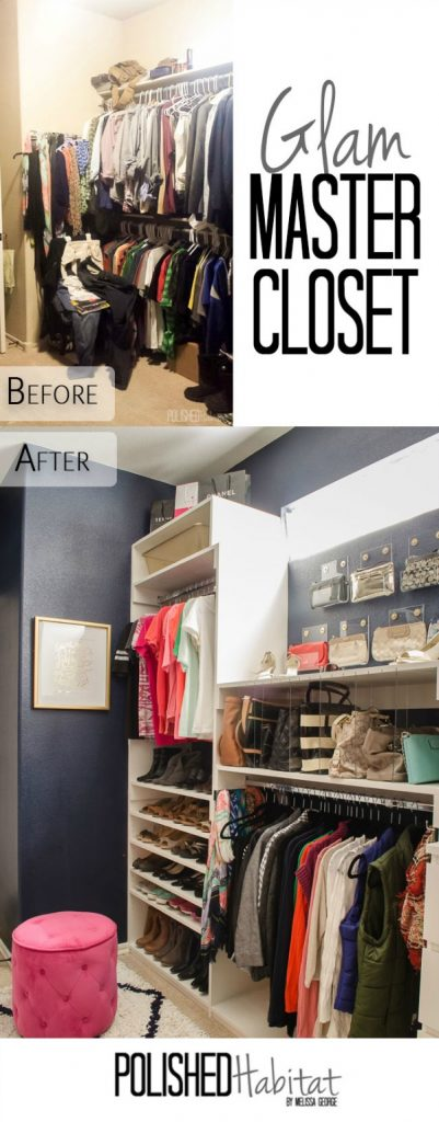 Organized Master Closet from Polished Habitat