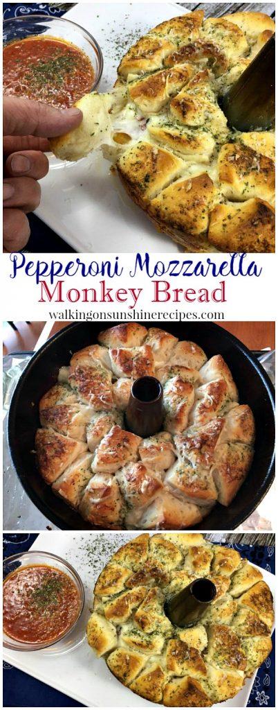 Pepperoni Mozzarella Monkey Bread from Walking on Sunshine LONG Promo