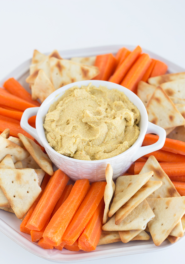 Pickled Vegetable Hummus from Cookie Dough and Oven Mitt
