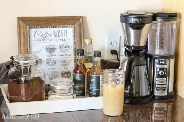 Simple Coffee Station from Addicted 2 DIY