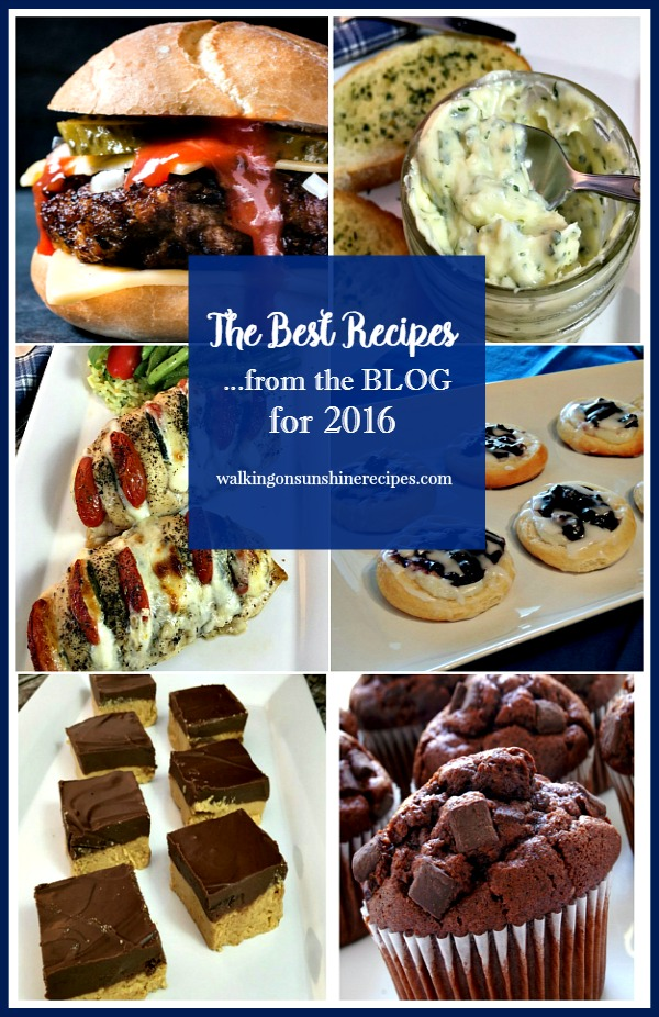 Recipes: The Best Posts from the Blog for 2016 from Walking on Sunshine