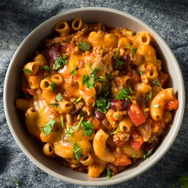 Cheesy Chili Pasta Casserole