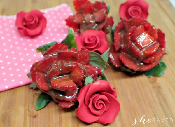 Chocolate Covered Strawberry Roses from She Saved