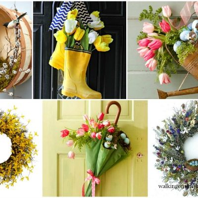 Spring Wreaths for the Front Door