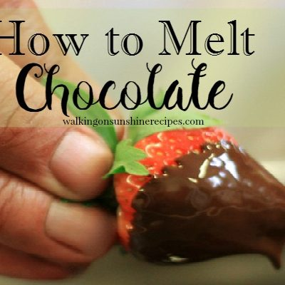 How to Melt Chocolate the Easy Way