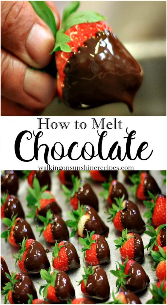 Tip: How to Melt Chocolate from Walking on Sunshine