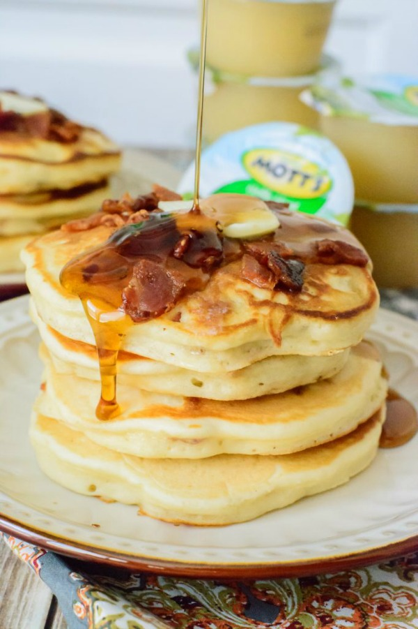 Maple Bacon Pancakes from Almost Supermom