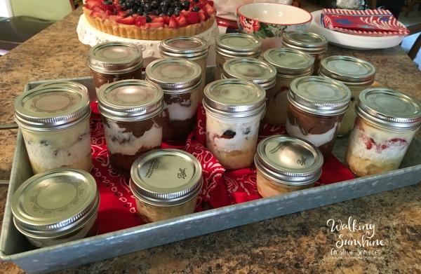 Mason Jar Pudding Desserts from Walking on Sunshine.
