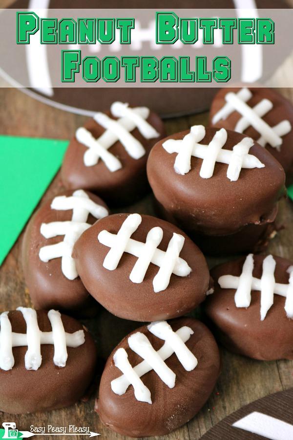 Peanut Butter Footballs from Easy Peasy Pleasy