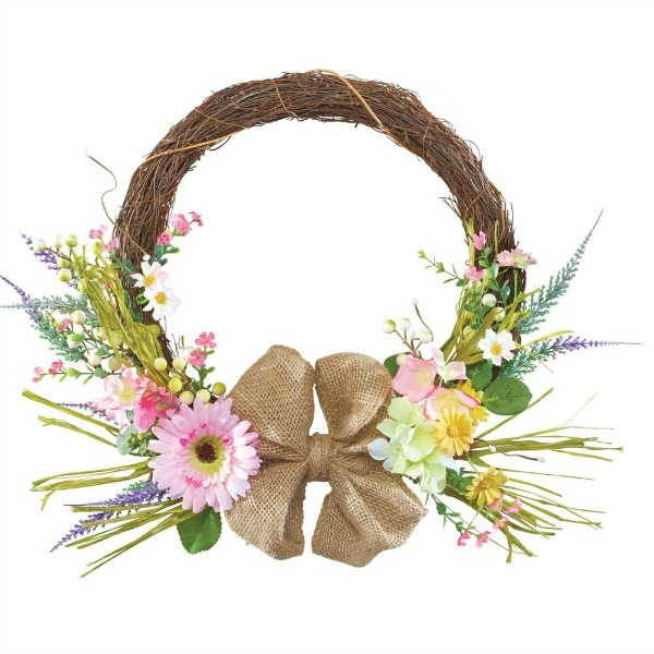 Pink Spring Daisy Wreath