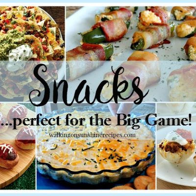 Recipe: Big Game Snack Recipes