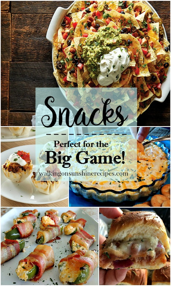 Snacks perfect for the Big Game from Walking on Sunshine