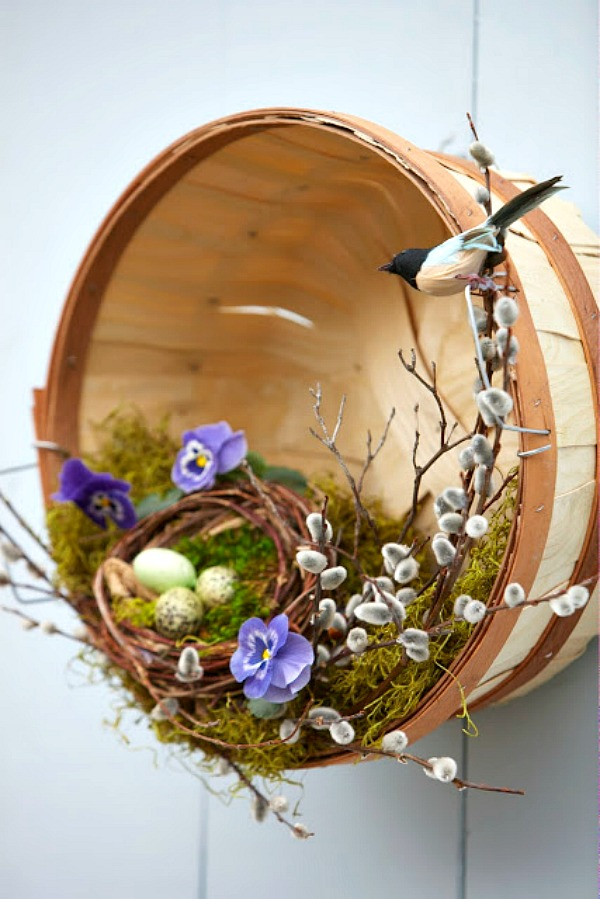 Spring Basket Wreath from Your Cozy Home