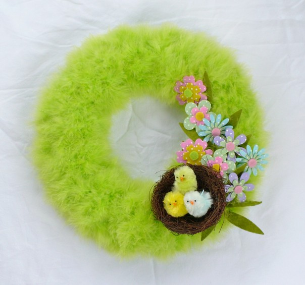 Super Easy DIY Spring Wreath from A Cultivated Nest