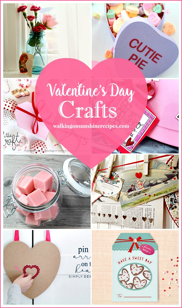 Party: Valentine's Day Crafts and Ideas featured on Walking on Sunshine.