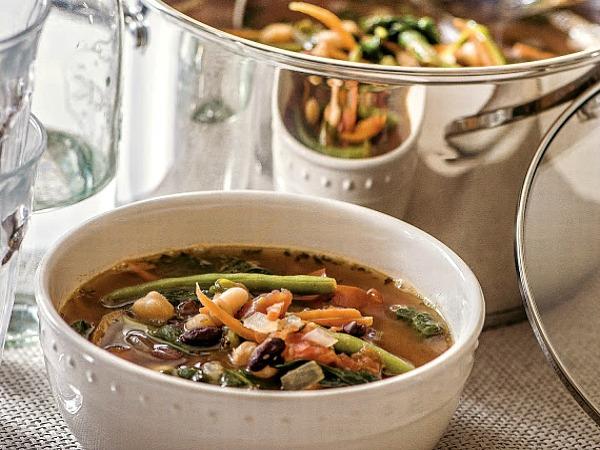 Three Bean Minestrone Soup