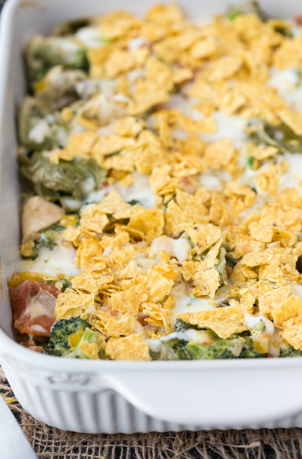 Santa Fe Chicken Tortellini Casserole from Simply Stacie