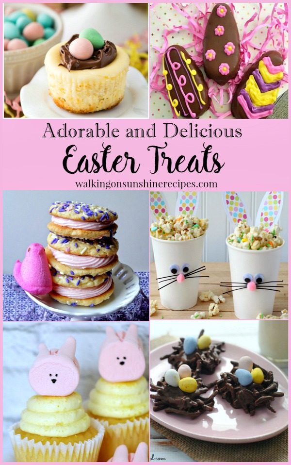 Adorable Easter Treats are this week's Host Favorites for Foodie Friends Friday featured on Walking on Sunshine.