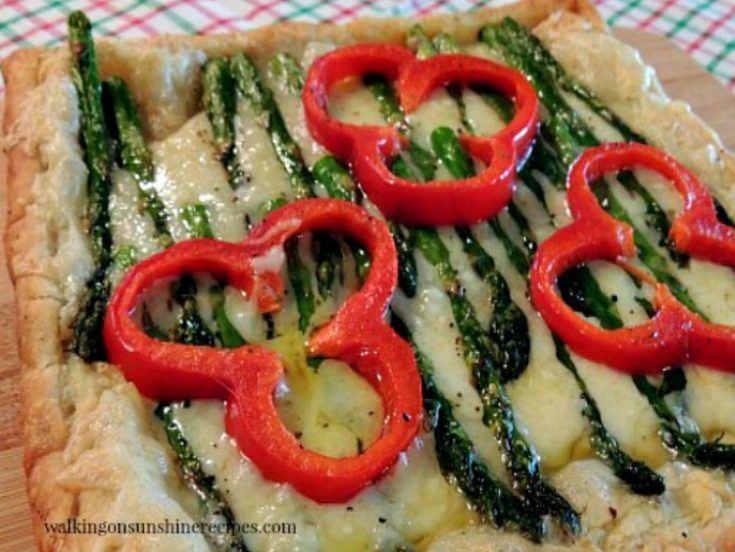 Asparagus and Cheese Puff Pastry Tart