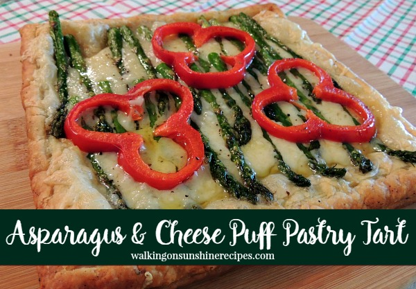 Recipe: Asparagus and Cheese Puff Pastry Tart from Walking on Sunshine