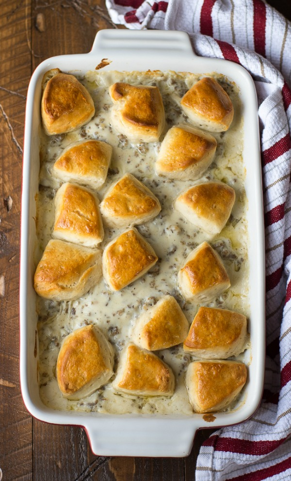Biscuits and Gravy Casserole from Dear Crissy