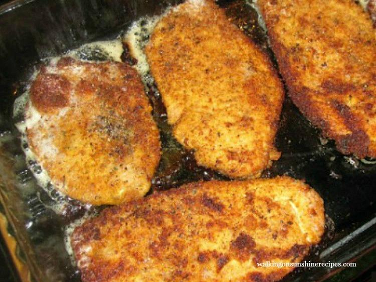 Chicken Cutlets in baking dish