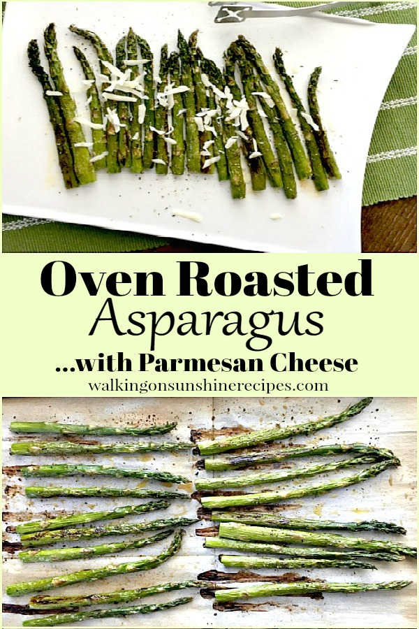 Oven Roasted Asparagus with Parmesan Cheese from Walking on Sunshine