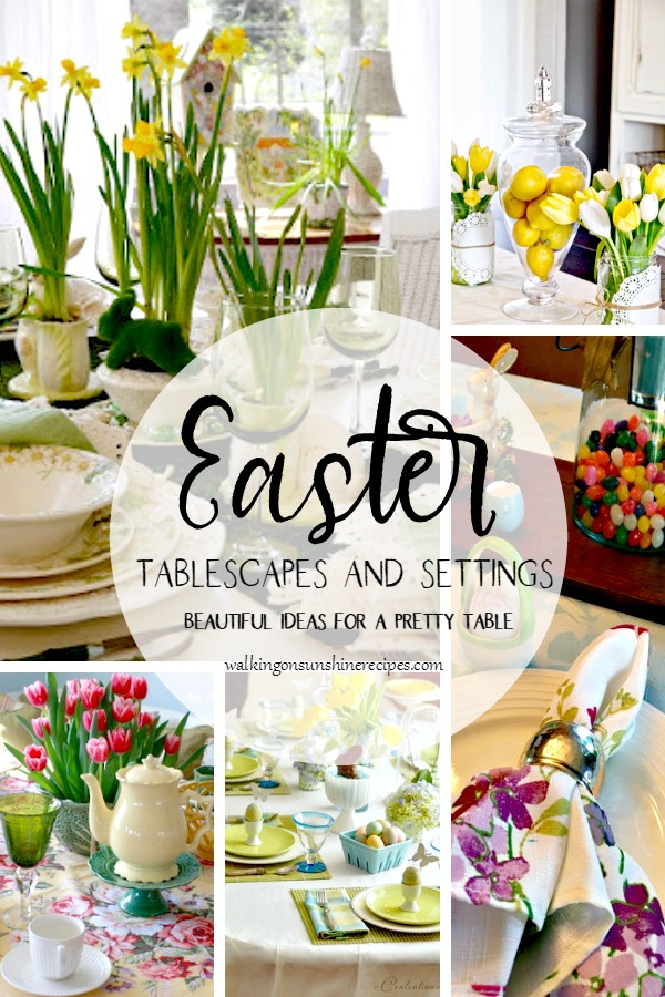 Easter Table Settings and Centerpiece Ideas.