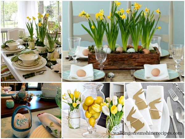 Charmant Easter Table Settings And Decorating From Walking On Sunshine.