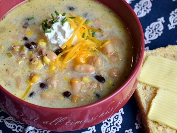 Easy White Chicken Chili Soup Supreme from A Proverbs 31 Wife